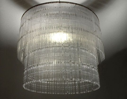 DIY crystal chandelier #DIY | Plastic spoons, Plastic ...
