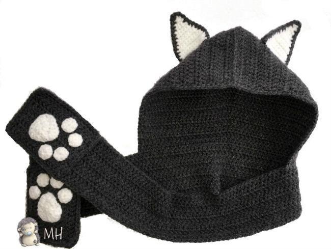 Bufanda de gato con capucha a crochet | Pinterest | Capucha, Seguir ...