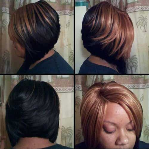 Layered Bob Honey Blonde Colored For Black Women Stylish Hair