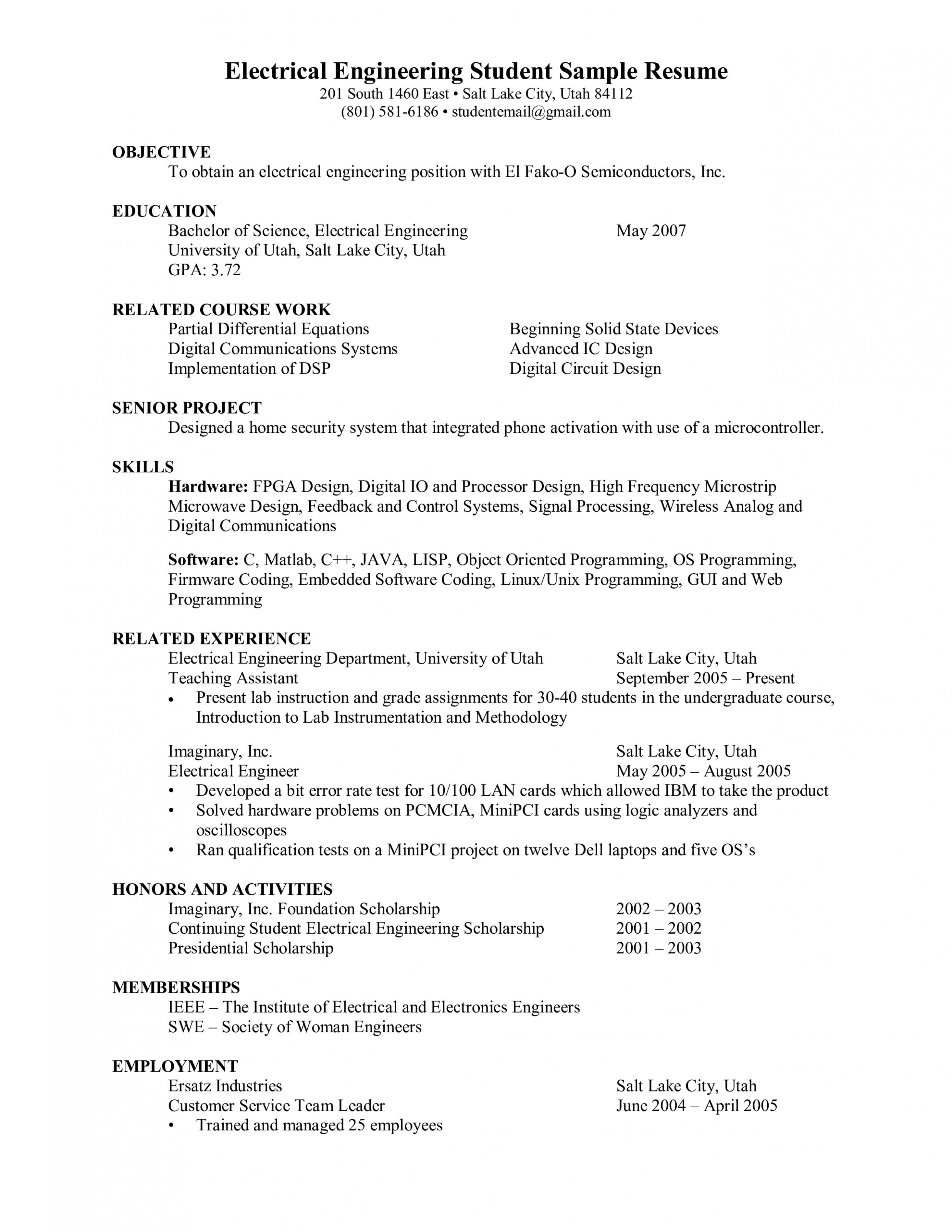 10 Engineer Resume Pattern For Freshers 10 Engineer Resume