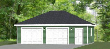 30x24 2 Car Garage 30x24g7c 720 Sq Ft Excellent Floor Plans Garage Plans Garage Construction House Plans