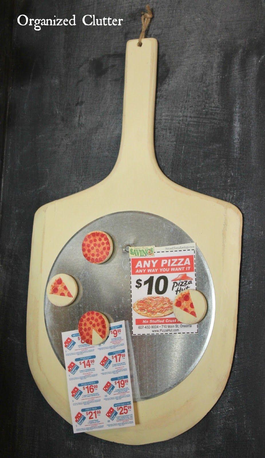 Repurposed Pizza Peel Message Board www.organizedclutter.net