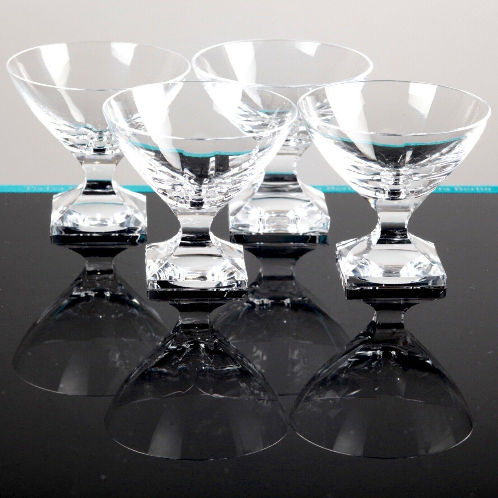 Likörglas Schale Kristall Glas mundgeblasen geschliffen Vintage 70 Jahre Gläser
