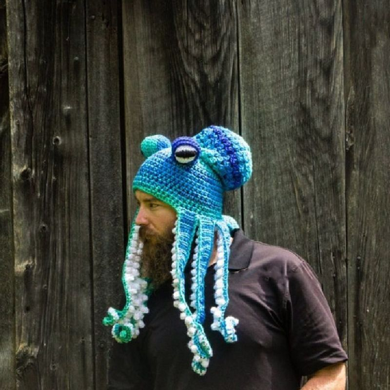 2020 New Halloween Party Hand Woven Octopus Wool Hat For Adults Octopus Hat Wool Hat Hand Weaving