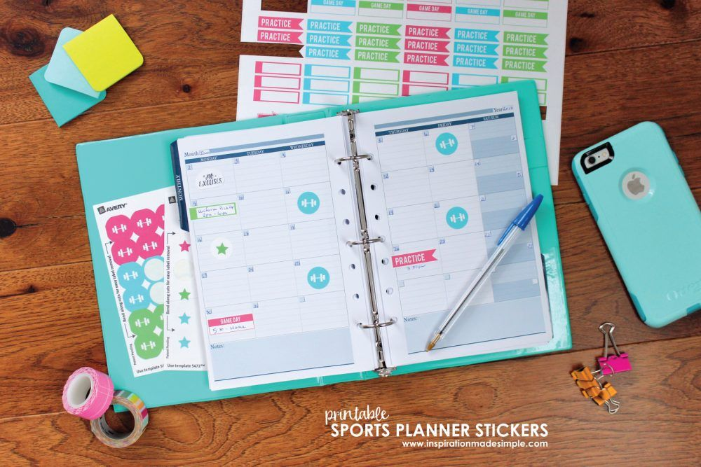 Youth Sports Planner Stickers Planner stickers, Kid activities and