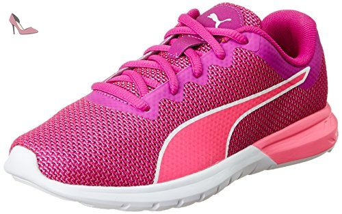 Puma Speed 100 R Ignite WN, Chaussures de Running Compétition Femme, Rose (Knockout Pink-True Blue White 03), 39 EU
