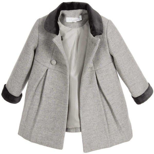 400b432d1d8e Tartine et Chocolat Baby Girls Grey Wool Classic Coat ( 215 ...