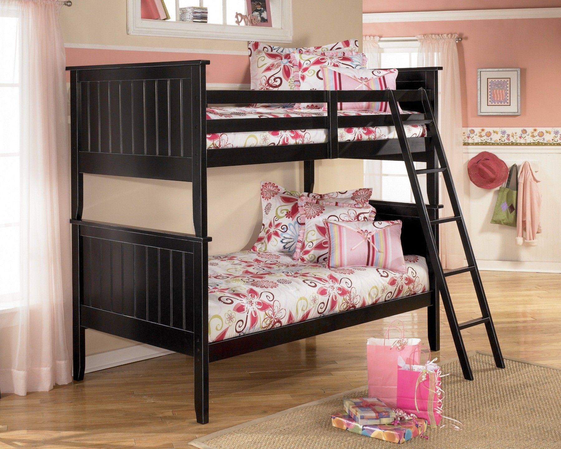 Jaidyn Youth Bunk Bedroom Set Black bunk beds, Bunk beds
