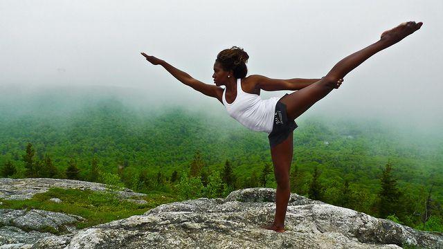 dancer's pose.namaste.
