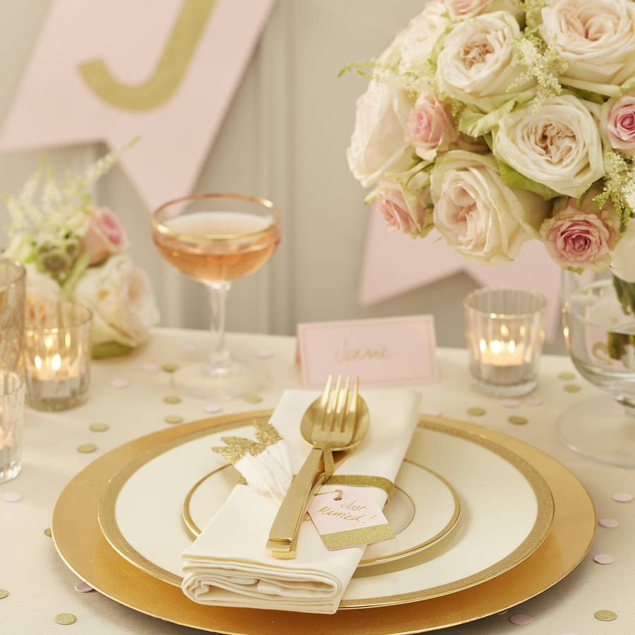 Pastel Pink And Gold Wedding Guest Book Alternative
