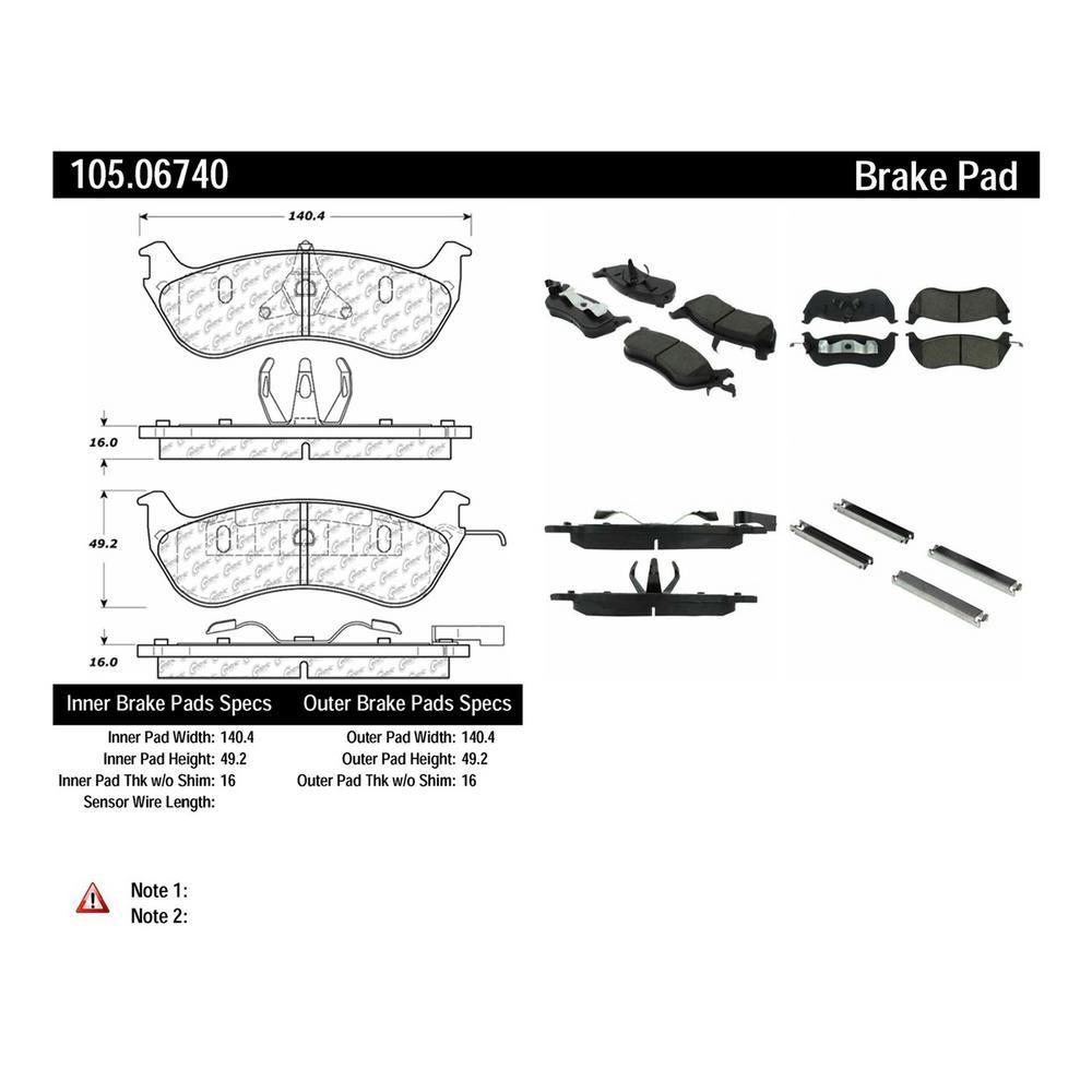 Centric Parts Disc Brake Pad Set 105 06740 Brake Pads Ceramic Brake Pads Ceramic Brakes