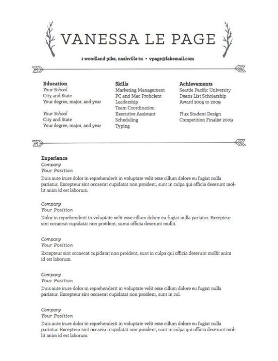 Resume Templates To Highlight Your Accomplishments  Resume