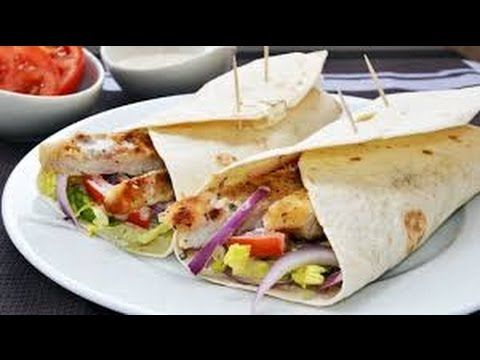 How to make quick and easy chicken wraps Ideal chicken recipe for dinner - YouTube #TTDD