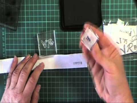 Making a simple logo tag / label for your puppet - YouTube