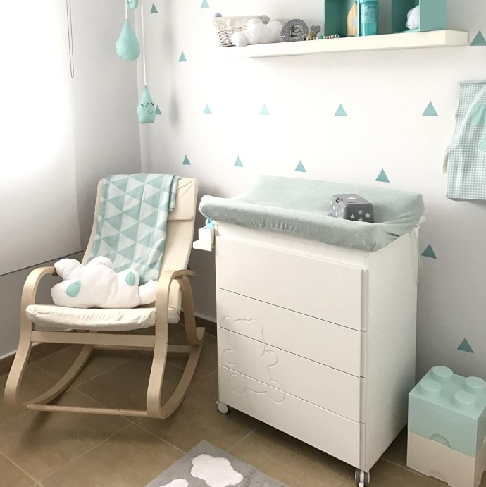 habitacin de beb bonita y original en tonos mint minimoi mjrote - Habitaciones De Bebe Originales