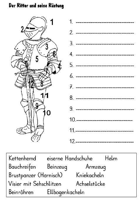 ritter arbeitsblätter grundschule 03 | Ritter | Pinterest ...