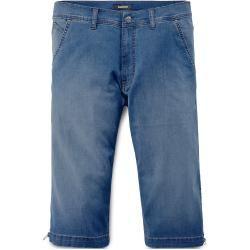 Walbusch Herren Siebenachtel Jeans Regular Fit Blau einfarbig flexibler Bund Walbusch