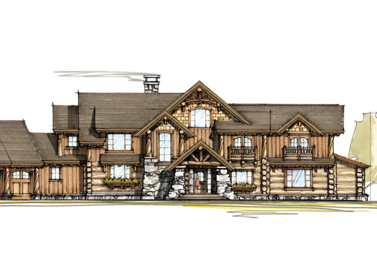 House Plan 8504 00018 Mountain Rustic Plan 5 770 Square Feet 4 Bedrooms 3 5 Bathrooms Rustic House Plans Luxury Plan House Plans