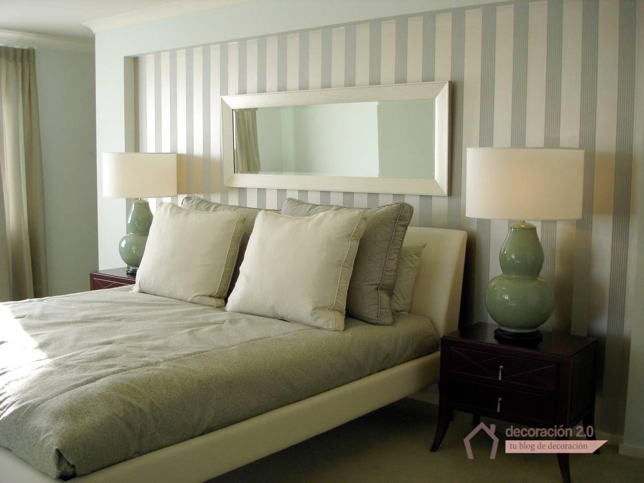 Papel pintado rayas dormitorio buscar con google - Dormitorios pintados a rayas ...