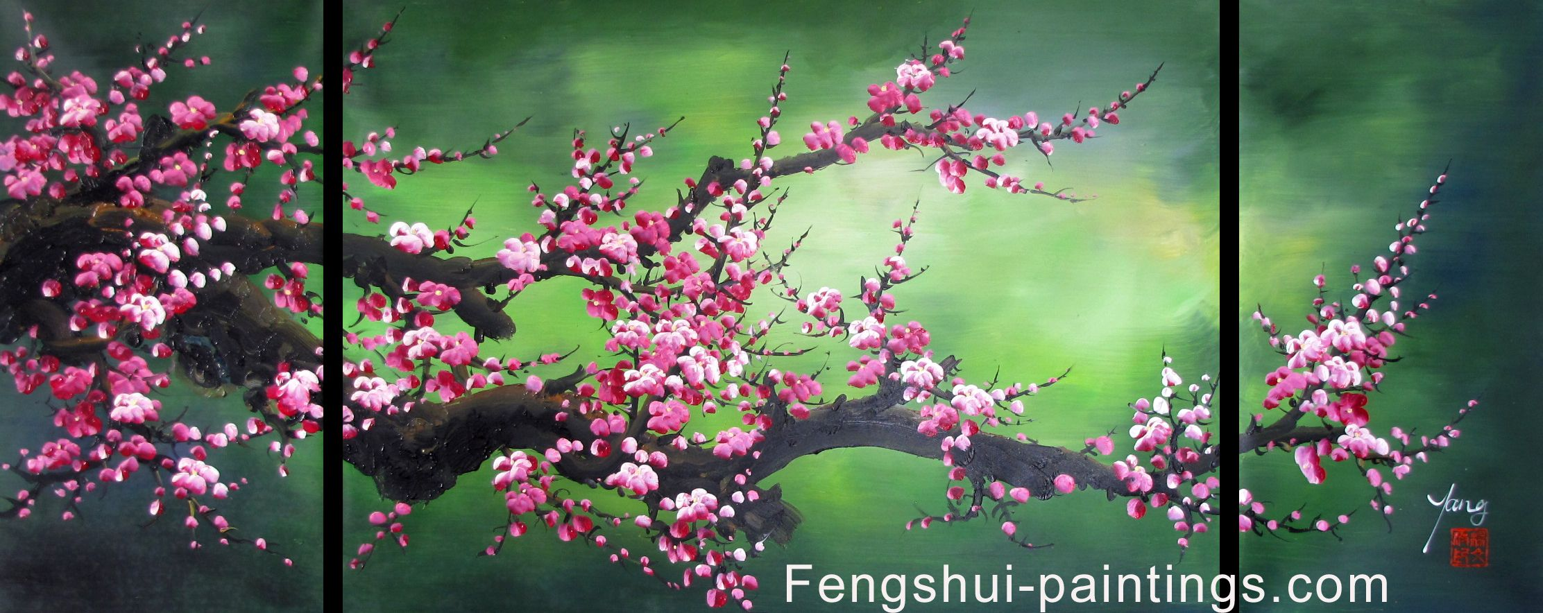 Chinese Feng Shui Painting Chinese Cherry Blossom