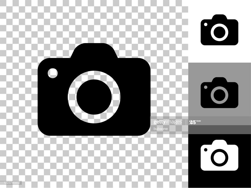 Camera Icon On Checkerboard Transparent Background This 100 Royalty In 2020 Camera Illustration Camera Icon Transparent Background