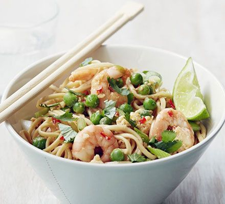 Thai Prawn Noodles Recipe Pinterest Midweek Meals Stir Fry