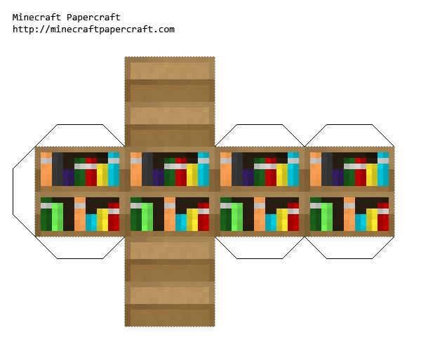 Papercraft Bookshelf Legopak Library Display Ideas
