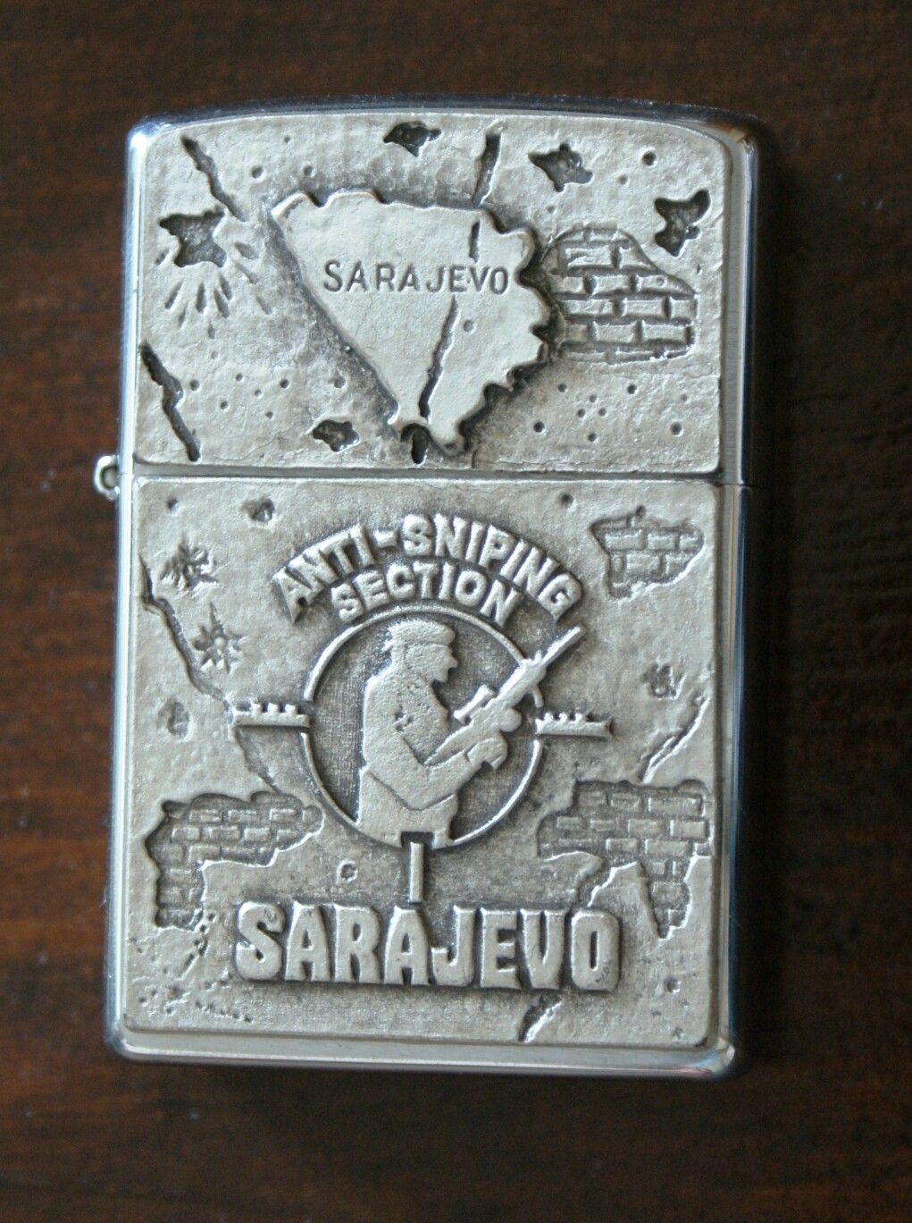 Zippo Anti Sniping Section Sarajevo Encendedor