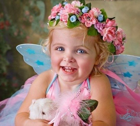 This little fairy looks out for the bunnies