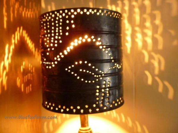 Punched Tin Lamp Shades; from simplicity to gorgeous in minutes ...
