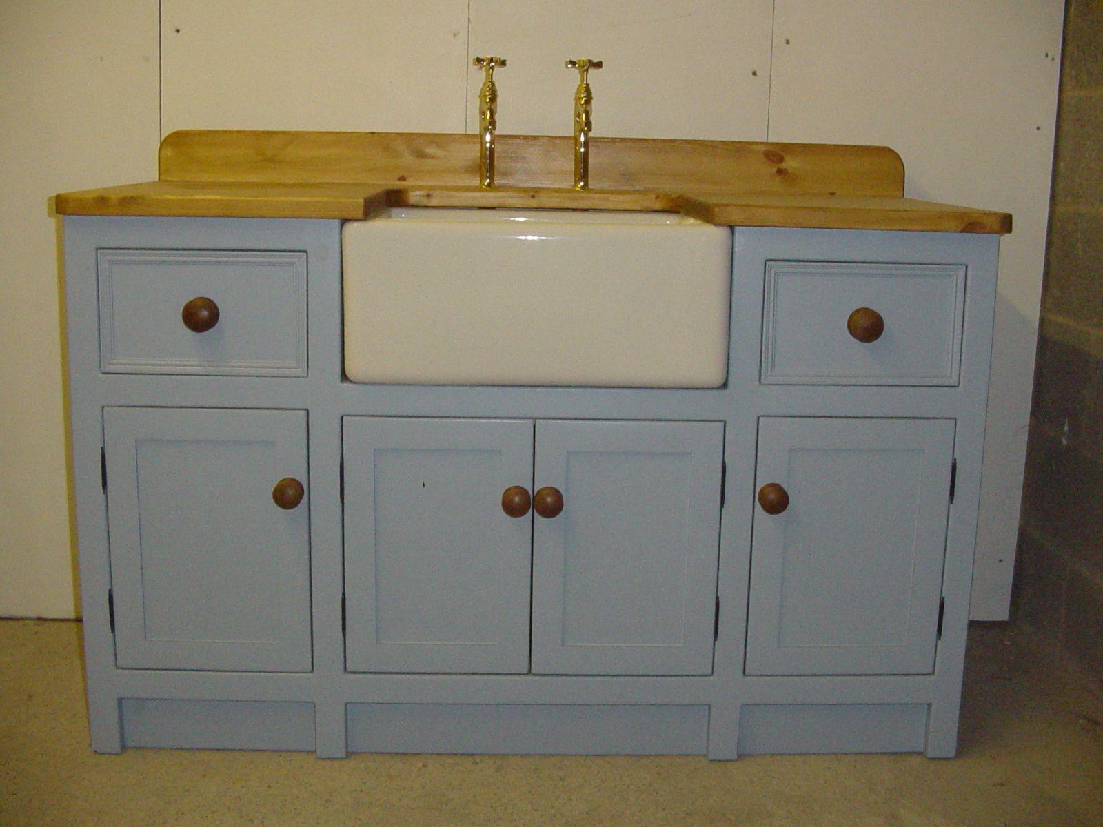 Best Lulworth Blue Sink Unit Sink Units Belfast Sink 400 x 300