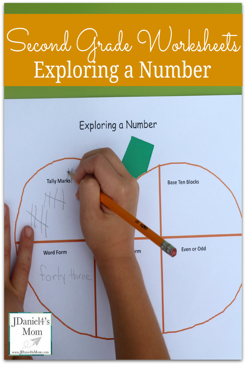 Second Grade Worksheets - Exploring a Number   Early learning math [ 1228 x 828 Pixel ]