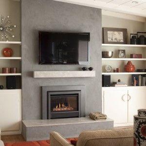 Fireplace Mantels Houzz Industrial Bar En Casa With Drinks Cabinet