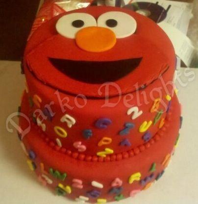 Elmo birthday cake!