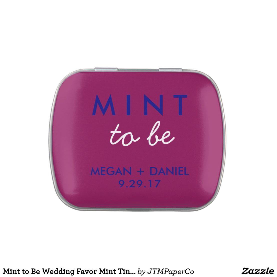 Mint to Be Wedding Favor Mint Tin Navy Blue Maroon | Burgundy ...