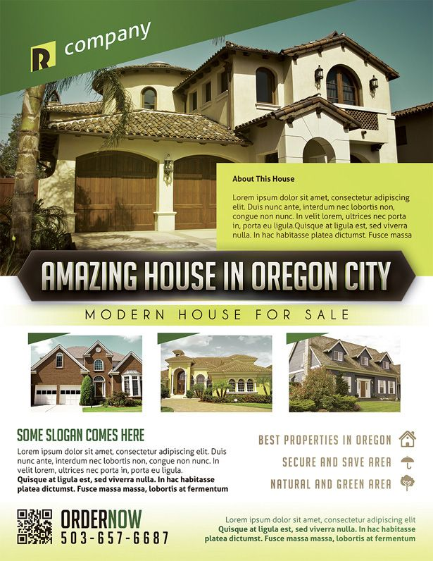 Real Estate Property Flyer Template Vandelay Design Vandelay