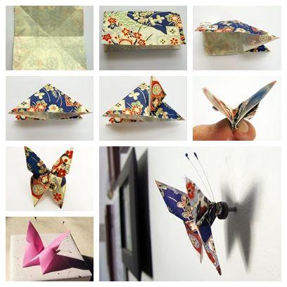 F1 mariposa maravillosa DIY Origami de papel de la mariposa