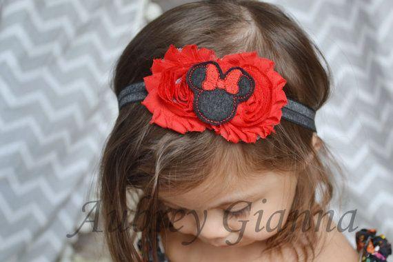 Baby headband Red Disney Minnie Mouse Headband by AubreyGianna