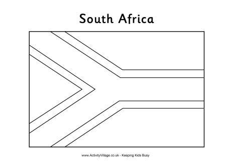 South African Flag Colouring Page