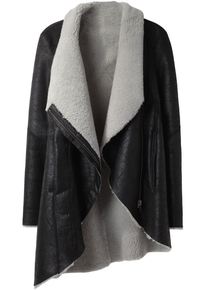 #HelmutLang /  Shearling #Coat