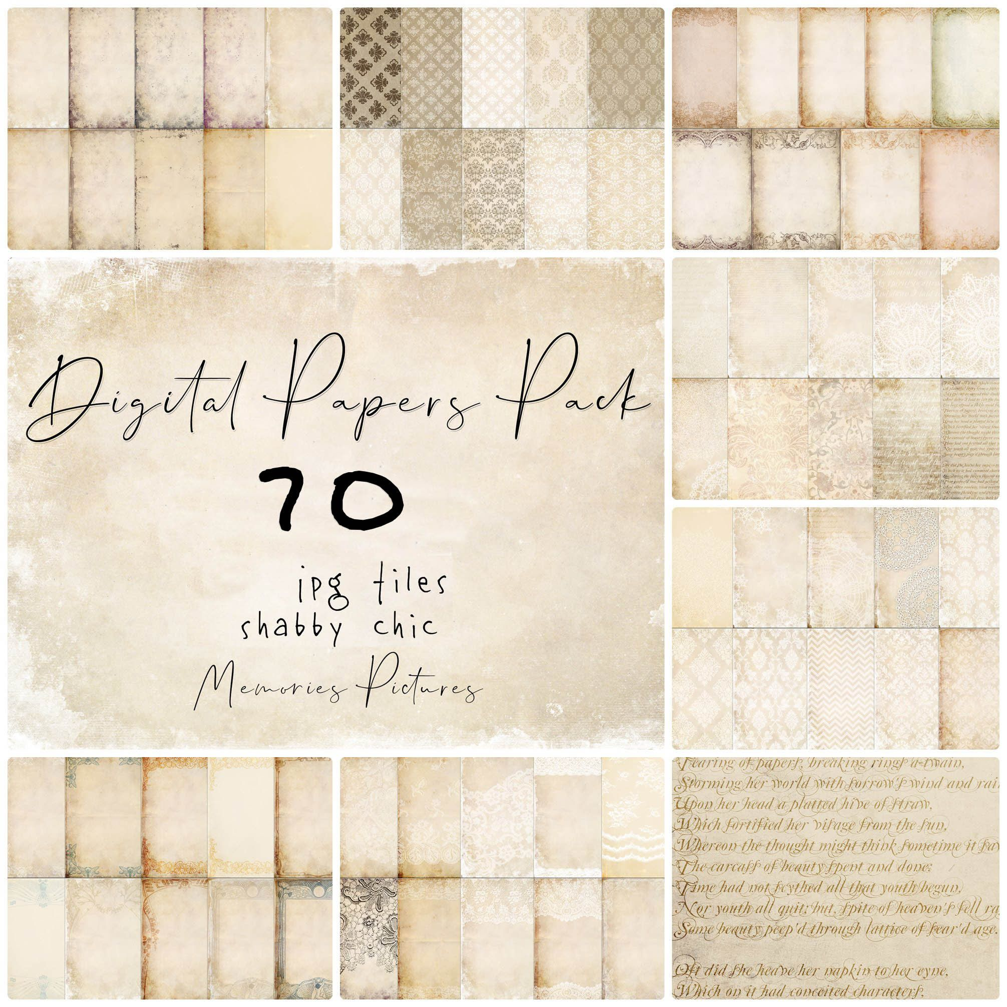 Digital Paper Pack Files Big Collection Shabby Chic Beige Etsy Digital Paper Digital Paper Pack Paper Pack
