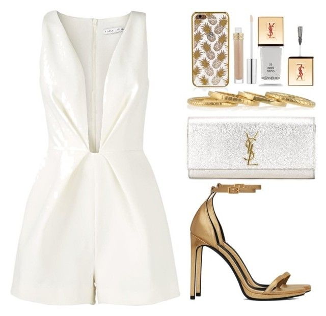 Simple and Clean by memelovely on Polyvore featuring Finders Keepers, Yves Saint Laurent, Accessorize and Stila
