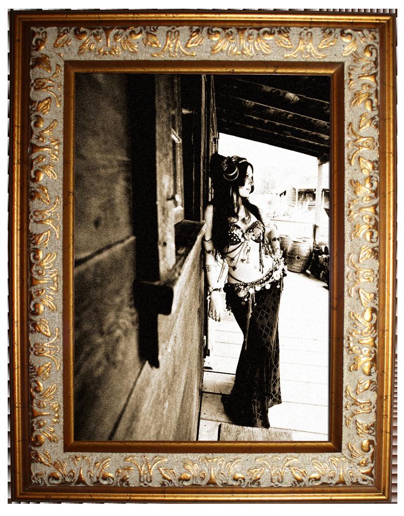Moria Chappell outside the Malamute Saloon, Ester Alaska. Antique ...