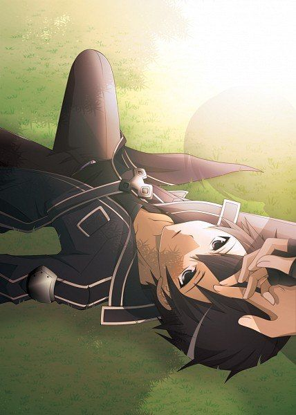 "Sword Art Online Kirito ""It's too good of a day to waste in dungeons."""