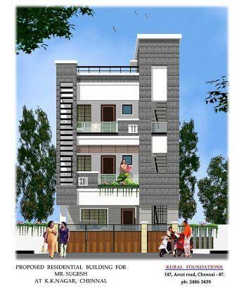 Front elevation designs house building plan plane also elev good only terrace part pinterest rh