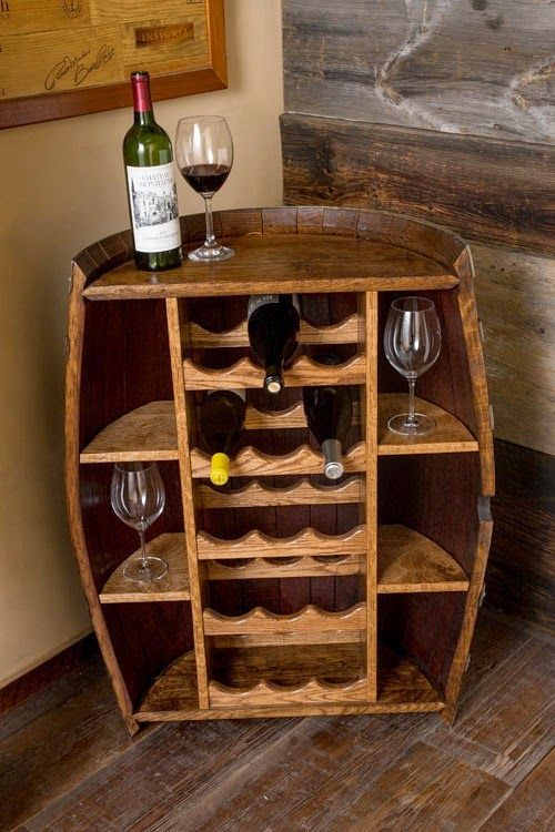 12 ideas para decorar con barricas de vino barriles for Mueble whisky