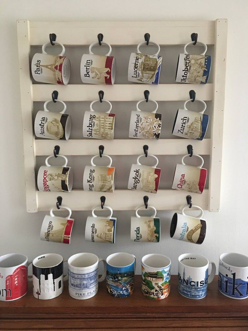 Coffee Mug Rack Large Mug Rack Cup Holder Kitchen Wall Decor Farmhouse Mug Rack Coffee Cup Rack Soil And Sawdust In 2020 Mug Rack Coffee Cup Holder Coffee Cup Rack