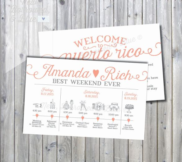 Wedding Itinerary Template - 11 Free Word, PDF Documents Download ...
