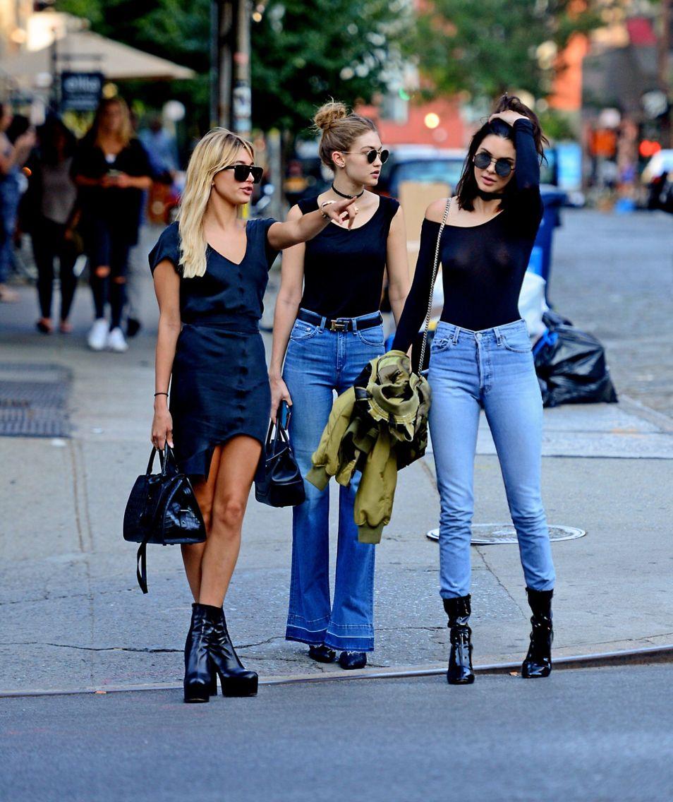 52ade03c4 Kendall Jenner, Gigi Hadid & Hailey Baldwin   Models Off Duty ...