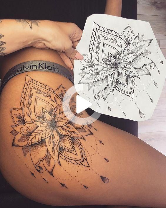 Top 100+ Unique Thigh Tattoo For Women